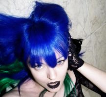 Bad Girl Blue Green Hair by cherrybomb-81
