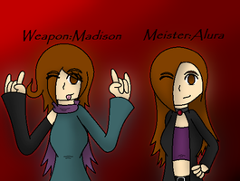 meister and weapon by NeonMusicLOVE