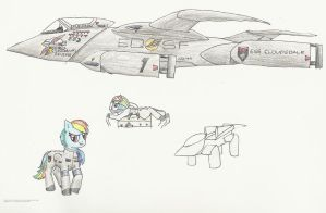MLP: Pegasus Mk.7 Starfighter by Jim-Prower