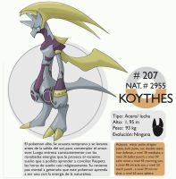 Pokemon Oryu 207 Koythes by shinyscyther