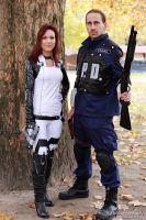 Miranda and a police from Racoon 2 by V-kony
