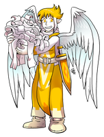 Earth Angel with Bandages by raizy