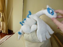Purr purr, Lugia! by crocheter
