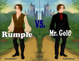 Rumple vs. Gold by Sunshine-Girl524