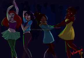 Disney Princess Dancing! :) by Rose-Rayne