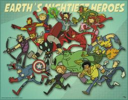 Earth's Mightiest Heroes by tyrannus