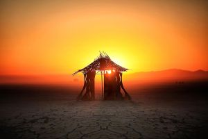 Sunrise on the Deep Playa - Burningman 2012 by bluedogsd