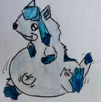 request 176:chubby glaceon by s3be