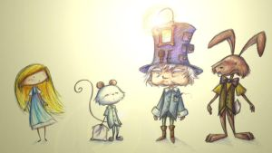Alice in Wonderland characters by Eenuh