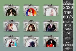 SNSD The Boys Folder Icon Pack by Rizzie23