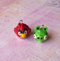 Angry Birds Charms by ButterflyInDisguise
