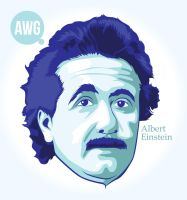 albert einstein by adisuryawan