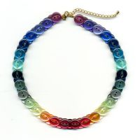 Rainbow Button Choker 2 by Wabbit-t3h
