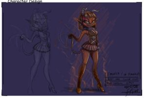Demon girl design 2 by 14-bis