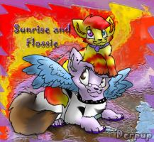 Flossie and Sunrise by Derpup