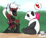 A Panda and her Samurai by DinchtGirlie