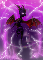 Dark Spyro Fury by Lythronax
