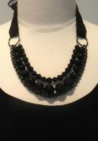 MIDNIGHT GEM NECKLACE by Kirstenanndesign