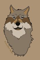 wolf face colo by KIARAsART