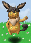 DYO Pumpkaboo/Eevee Psychic fusion by Death-of-all