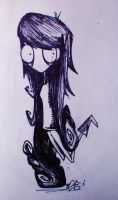 Tim Burton style Marceline the Vampire Queen by elielikeanaeel