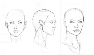 Female headshots turn arounds by igm-transformer