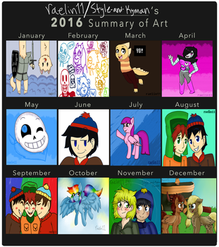 My 2016 Art Summary by raelin11