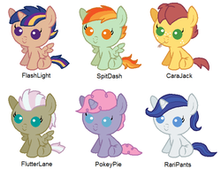 Mainstream Mane 6 Shipping Adopts (CLOSED) by srbarker