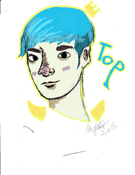 Top From Bigbang blue hair by bleachmanx