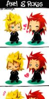 Roxas and Axel-fanart by AndrejA