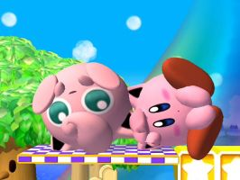 Kirby and Jigglypuff Rollout by Panthserv
