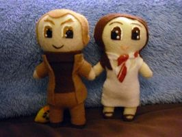 Plushie Cave Johnson+ Caroline by Pinka-Starlight
