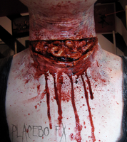 Neck Laceration by PlaceboFX