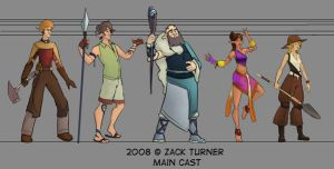 Character Design Cast Line Up by ZackRI