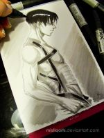 Shirtless Levi by Mistiqarts