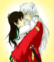 Inuyasha and Kagome by DramaQueen14