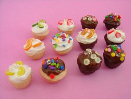 Cutesy Teeny Gourmet Cupcakes by monsterkookies