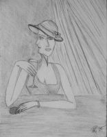 Woman at the bar by RamonaH
