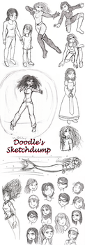 Traditional Sketchdump by doodleavc14