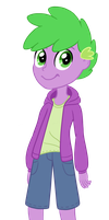 Human Spike Equestria Girls by TheCheeseburger