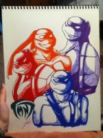 TMNT: Their Colors by BlackRoseDestiny