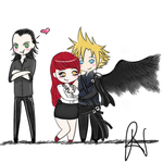 Commission 1 Loki, Cloud and Andariel by Pandalectra