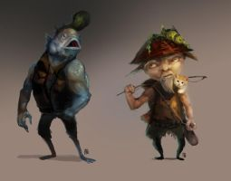 Fishman and a Fisherman by zhia2chen