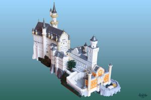 LEGO Neuschwanstein by JNLN