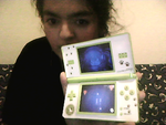 me with my green ds i play twewy my childhood by kari5
