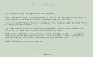 Disconnect by trezoid