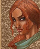 Triss, the chestnut hair sorceress by AryannaFeal