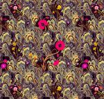 Daffodil pattern, textile design for Oktex del pun by Rolandi