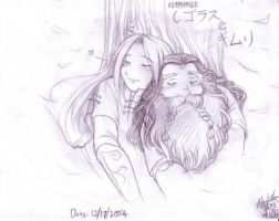 LOTR:  Sleeping under a tree. by Kriska