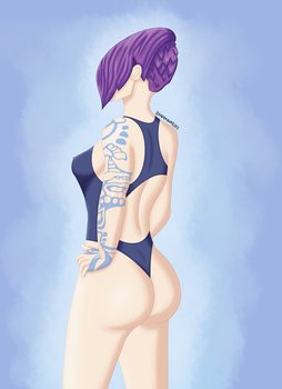 Borderlands 2 - Maya with swimsuit by R4ND0MNUMB3RS